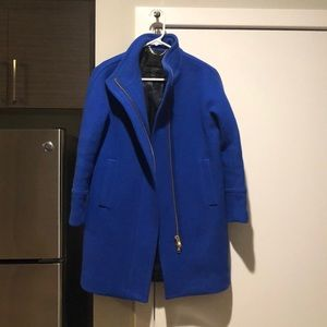 Blue Dress Coat from J. Crew